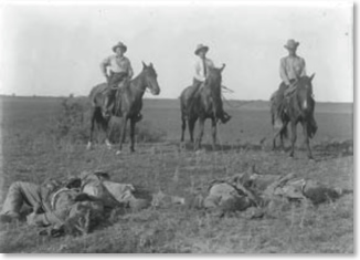 Texas Rangers after the Las Norias Bandit Raid